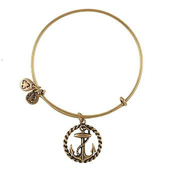 Alex en Ani nautische Gold Bangle A09EB169RG