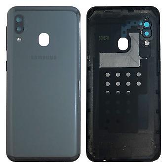 Samsung GH82-20125A Akkudeckel Deckel für Galaxy A20E A202F + Klebepad Schwarz Neu