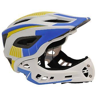 Kiddimoto IKON Full Face Helmet-White/Blue