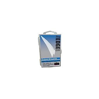 The Edge Nails Assorted Nail Tips - Clear Stiletto (100 Pieces) (2017820)