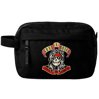 Guns N Roses Wash Bag Appetite for Destruction Band Logo new Official Black