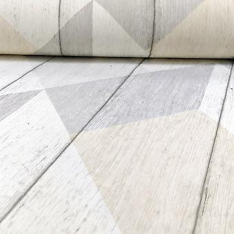 Galerie Wallcoverings Galerie Unplugged Wood Panel Effect Triangle Pattern Textured Vinyl Wallpaper UN3201