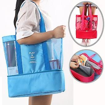 Large supple bag with Extra cooling space Blue