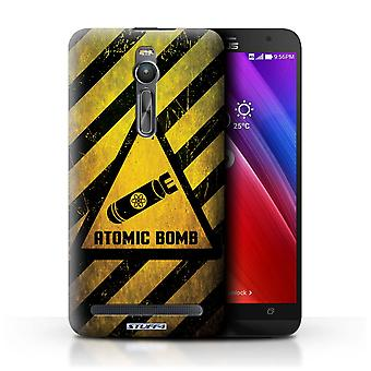 STUFF4 Case/Cover for Asus Zenfone 2 ZE551ML/Atomic Bomb/Hazard Warning Signs