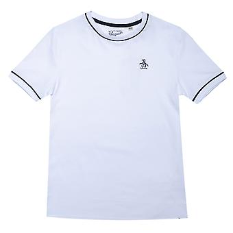 Infant Boys Original Penguin Contrast Piping T-Shirt in White