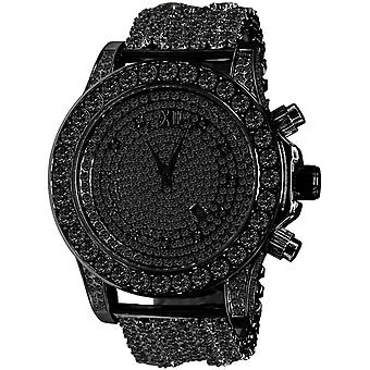 BURNISH High Quality FULL ICED OUT ZIRKONIA Watch - black