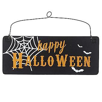 Buon Halloween In legno Hanging Sign