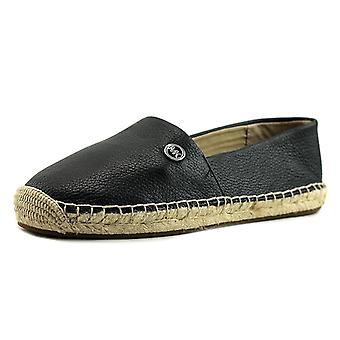 Michael Michael Kors Womens Kendrick Slip On Leather Closed Toe Espadrille Fl...