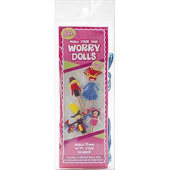 Worry Dolls Kit Makes 4 Cheerleader 46778
