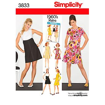Simplicity Misses Miss Petite Dress 6,8,10,12,14 U03833h5
