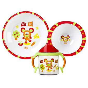 Saro Tableware 3 pcs  meadow  (Jeugd , Voederen , Food accessories , Dinnerware sets)