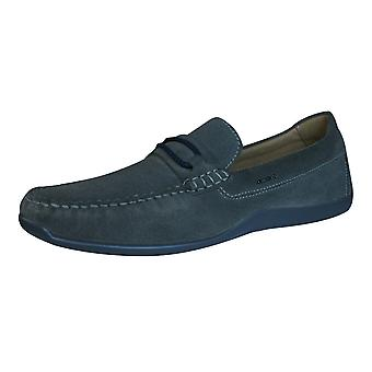 Geox Shoes U Xense Moc C Mens Suede Leather Moccasins - Stone