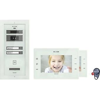 Video door intercom Corded Complete kit Bellcome KIT.VPA.2FR02.BLW Semi-detached White