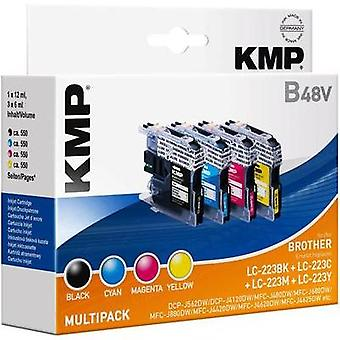 KMP Ink replaced Brother LC-223 Compatible Set Black, Cyan, Magenta, Yellow 1529,0050