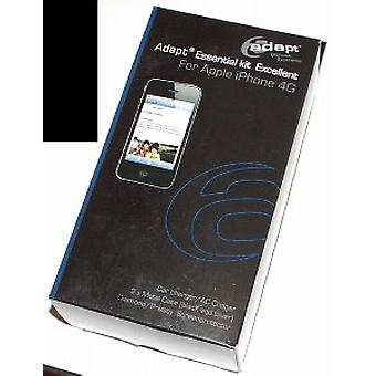 Adapt bundle for iPhone 4 / 4S (2 x cover, car/AC battery charger, 2 x screen protector)