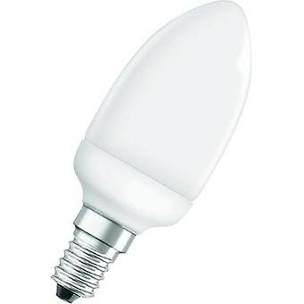 Energy-saving bulb OSRAM 230 V E14 6 W = 25 W Warm white EEC: A Candle shape Content 1 pc(s)