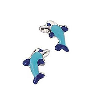 Scout children earrings ear cutter silver Dolphin blue girl 262003100