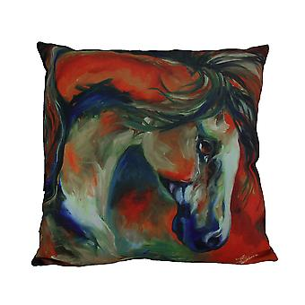 Marcia Baldwin Mustang West Colorful Throw Pillow 16 in.
