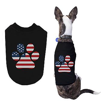 Red White Blue Paw Cute Independence Day Shirts for Small Dog