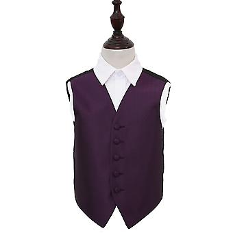 Boy's Cadbury Purple Greek Key Wedding Waistcoat
