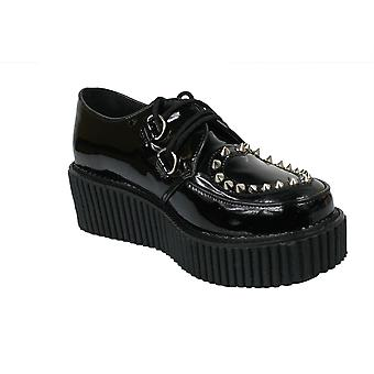 Demonia Spiked Cut Out Heart Creepers UK 3