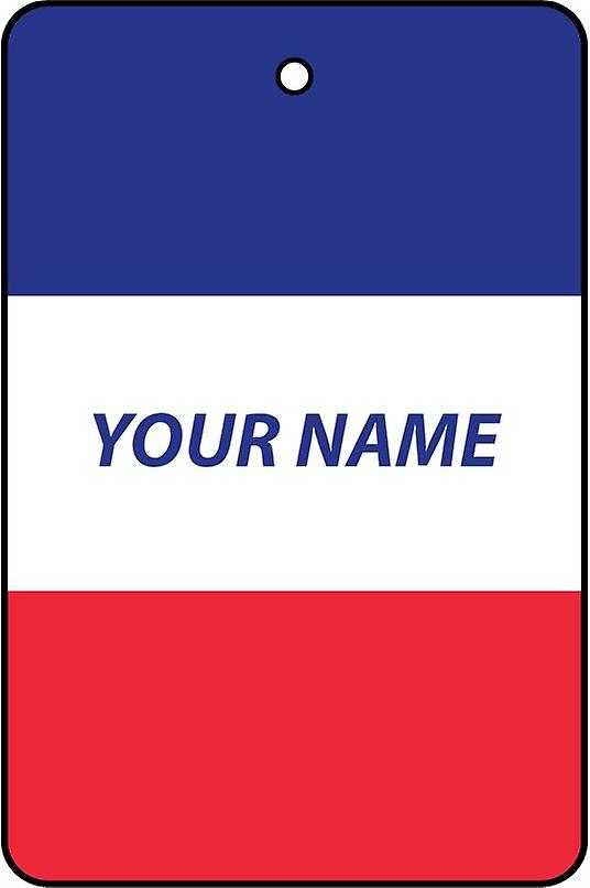France Flag Personalised Car Air Freshener