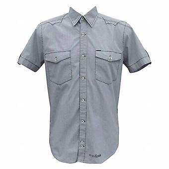 Duck and Cover Men's Wisdom Short Sleeve Fine Check Shirt