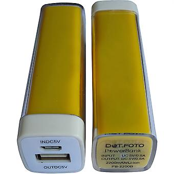 Chargeur de batterie de secours Portable Power Bank Dot.Foto 2200mAh (jaune)