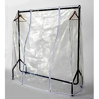 New Transparent Clear Protection Hanging Garment Coat Clothes Hanger Rail Cover[3ft - 5ft]