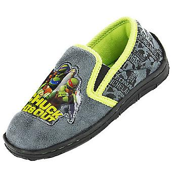 New Kids Boys Novelty Mutant Ninja Turtles Comic Cartoon Character Slipper 64023