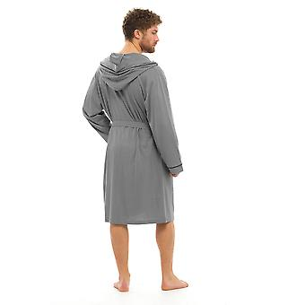 Foxbury Mens Classic Design Combed Jersey Cotton Bathrobe