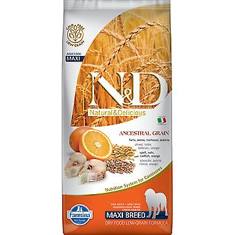 Farmina N&D Low Ancestral Grain Adult Maxi Poisson et Orange