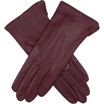 Dents Jessica Classic Imipec Leather Gloves - Claret Red