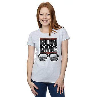 Run DMC Women's Logo Glasses T-Shirt