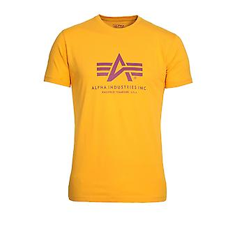 ALPHA INDUSTRIES Basic Yellow Logo T-Shirt