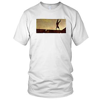 Parkour Handstand Grunge Effect Kids T Shirt