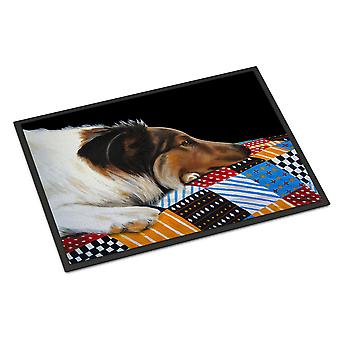 Carolines tesori AMB1037MAT Day Dreamer Collie Indoor o Outdoor Mat 18 x 27