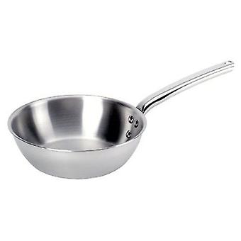 De Buyer PRIORITY rounded sauté-pan with riveted handle - All stainless steel