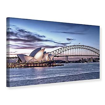 Kanvas Print Skyline Sydney Opera House