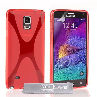 Samsung Galaxy Note 4 Gel X-Line Silikonhülle - rot