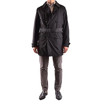 Allegri men's MCBI427001O black polyester trench coat