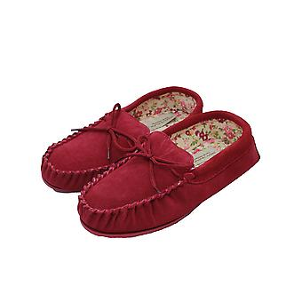 Eastern Counties Leather Womens/Ladies Fabric Lined Moccasins