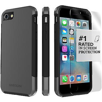 SaharaCase iPhone 8 & 7 Mist Gray Case, Inspire Protective Kit Bundle with ZeroDamage® Tempered Glass
