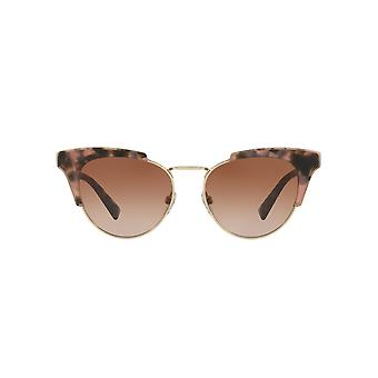 Valentino Metal Bridge Cateye Sunglasses In Pink Havana