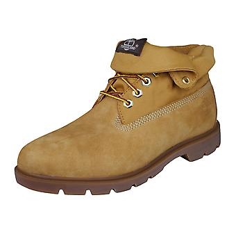 Timberland Roll Top Mens Leather Boots - Wheat