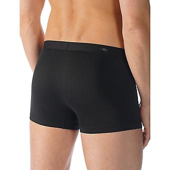 Mey 41521-123 Men's Cool Black Solid Colour Fitted Boxer