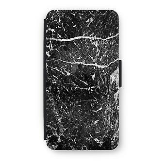 Huawei P8 Lite (2015-2016) Flip Case - Black marble