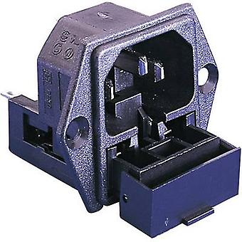IEC connector C14 Series (mains connectors) PF Plug, vertical mount