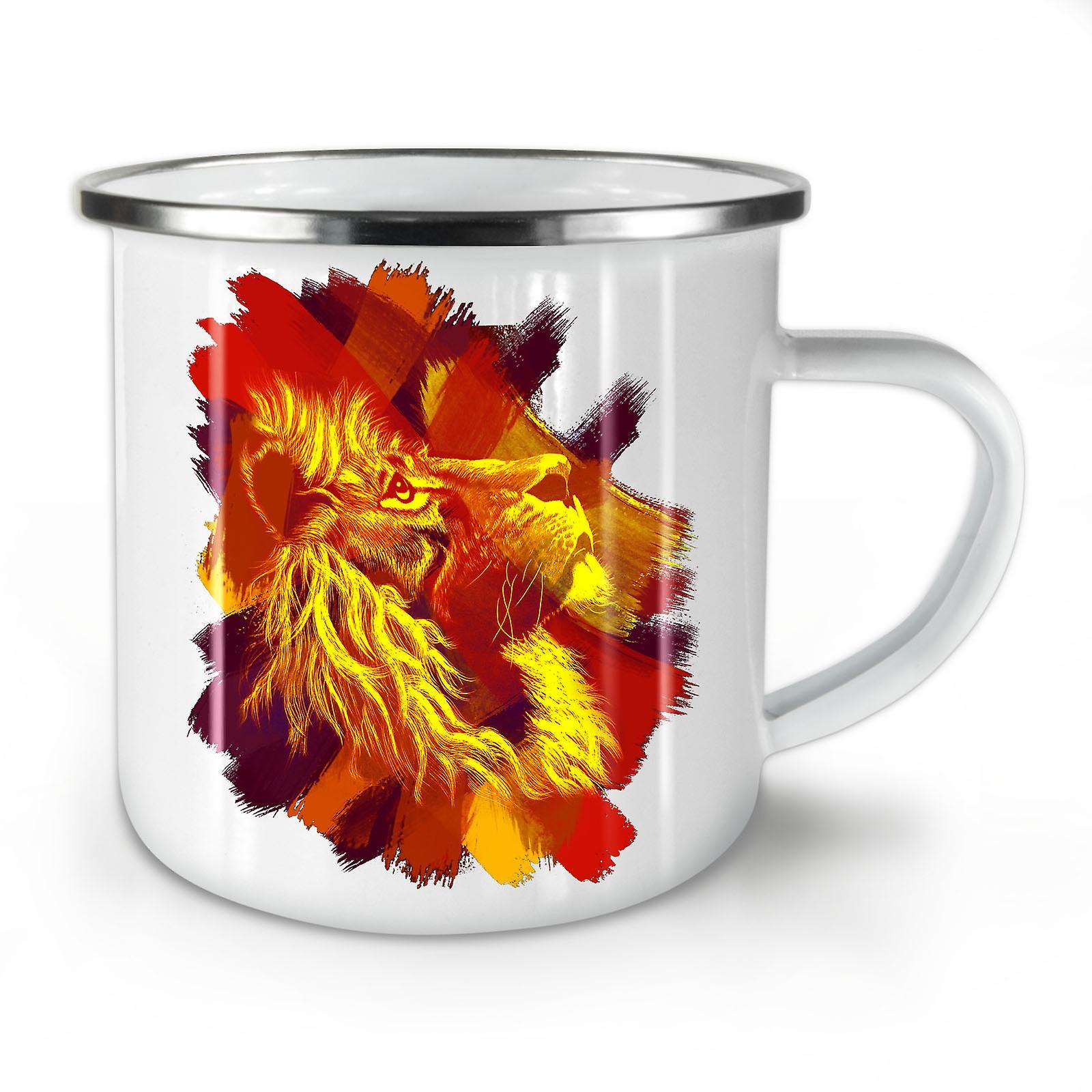 Émail Café Nouvelle Lion OzWellcoda Teinte Magnific Whitetea Mug10 IYgbfy6v7