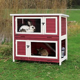 Trixie Rabbit hutch Red and White (Small pets , Cages and Parks)